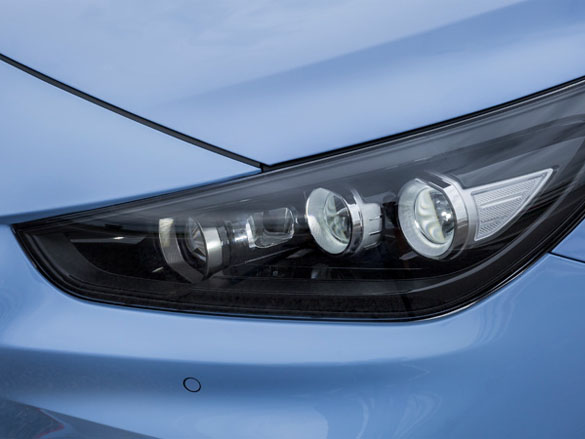 LED headlights.