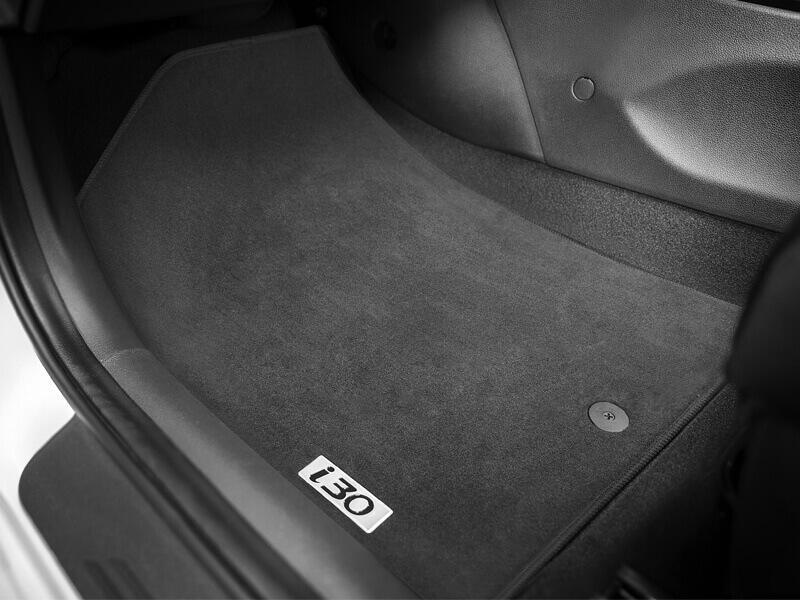 Tailored rubber floor mats (set of 4).