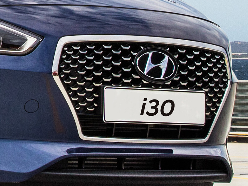 Cascading front grille.