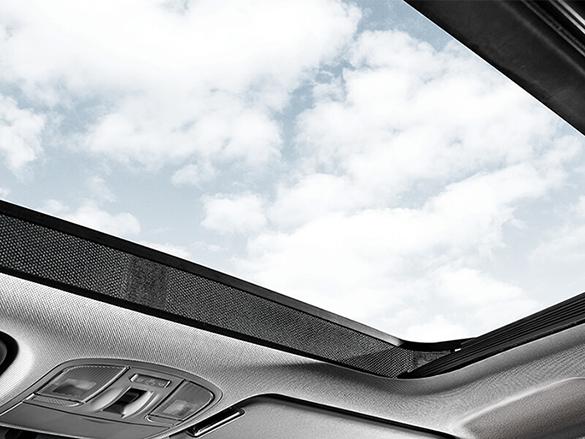 Panoramic glass sunroof.