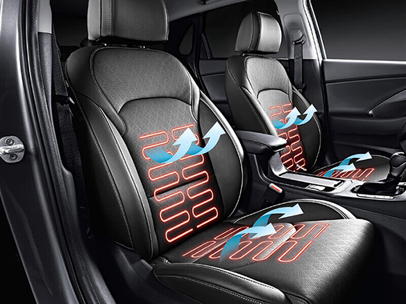 Heated and ventilated front seats.