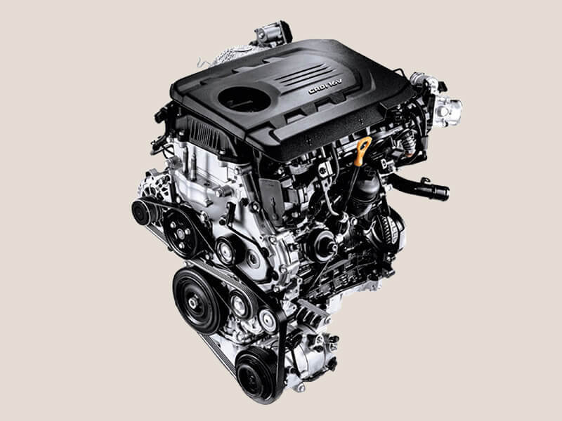 100 kW 1.6L turbo diesel engine.