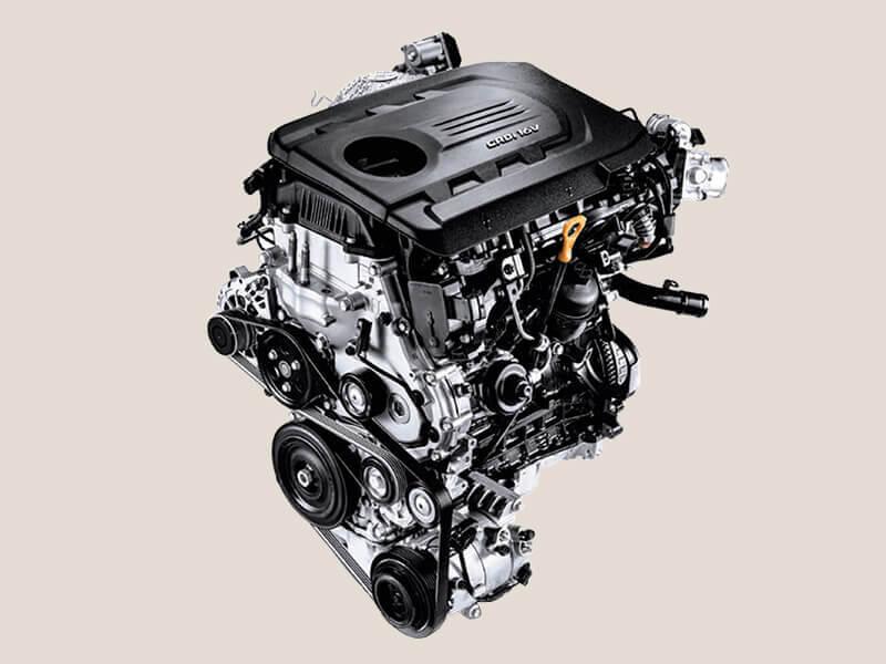 100 kW 1.6L turbo diesel engine.