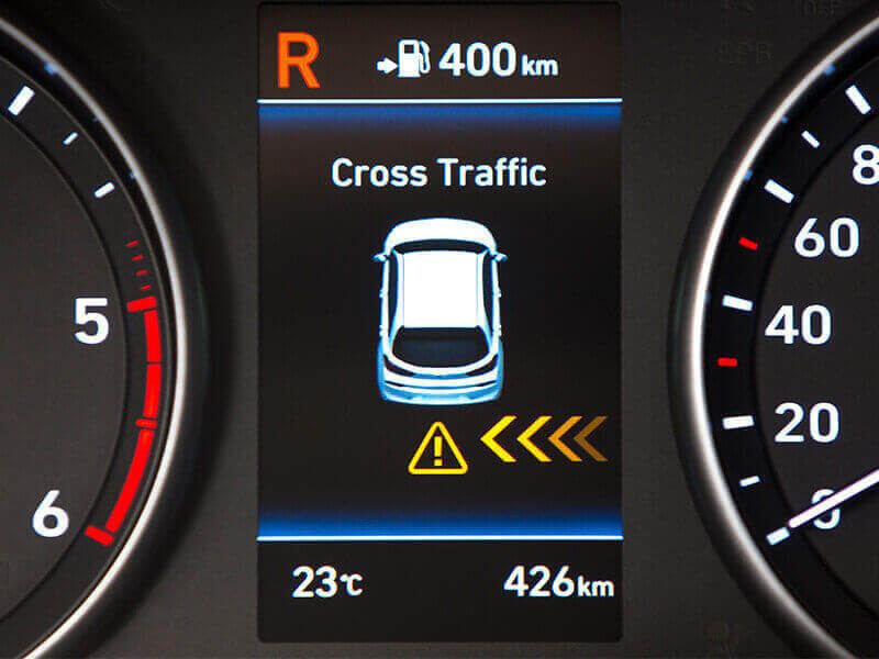 Rear Cross-Traffic Collision Warning (RCCW).