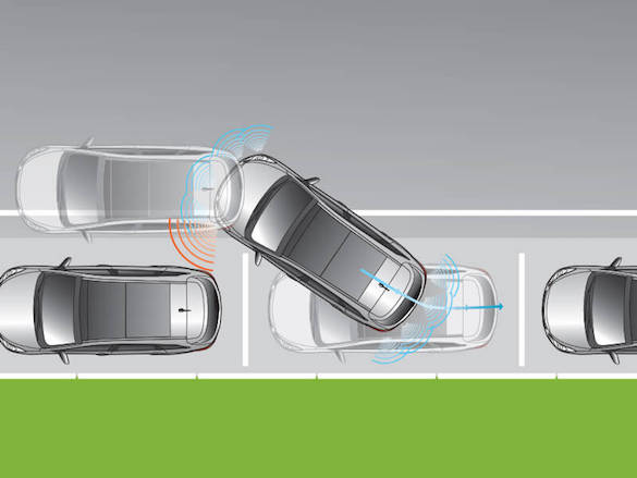 Front and rear parking assist system.