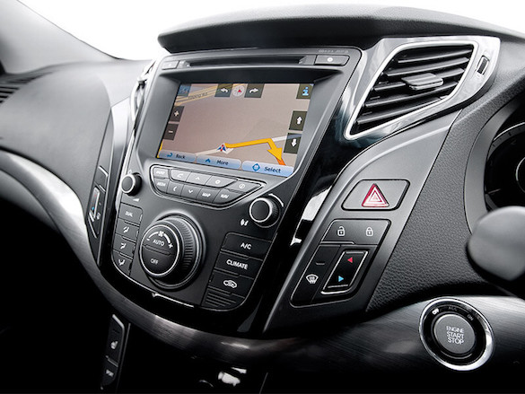 "7"" touchscreen with Sat Nav."