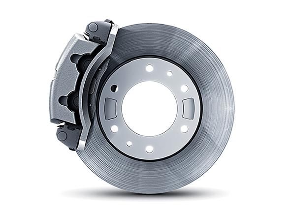 Disc brakes.