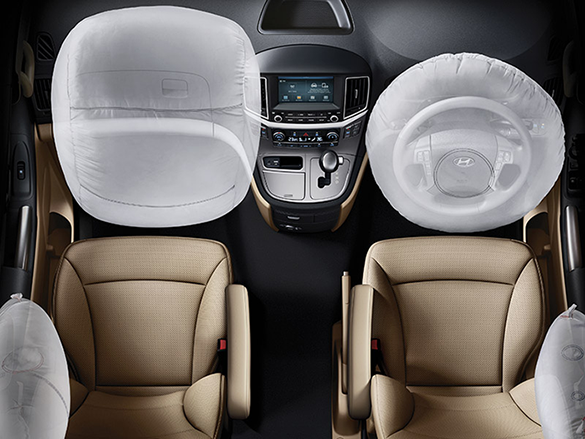 Dual front & side airbags.