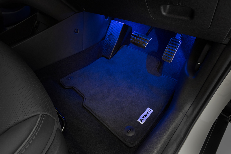 Front and rear interior footwell lighting.