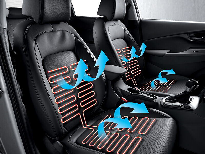 Heated and air ventilated seats.