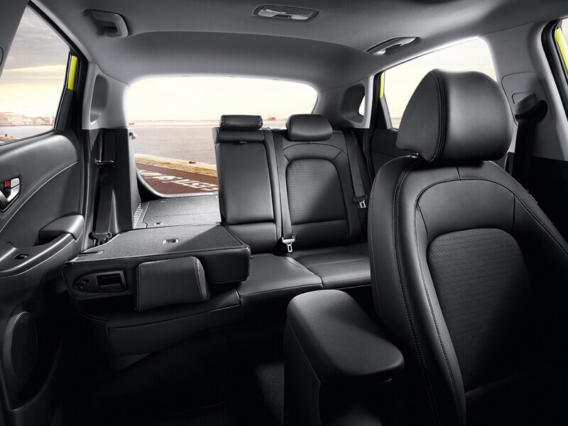 Leather appointed interior.