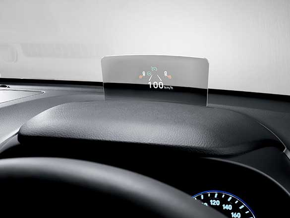 Suite of advanced technology: Head-Up Display (HUD).
