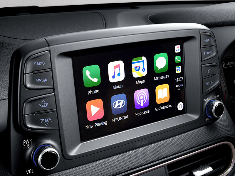 "7"" multimedia touchscreen display with Apple CarPlay™ and Android™ Auto."