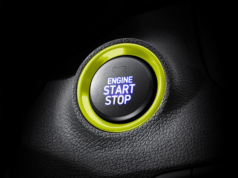 Smart key with push button start.