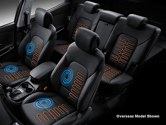 Heated and air ventilated front seats.