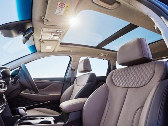 Stylish and spacious interior.