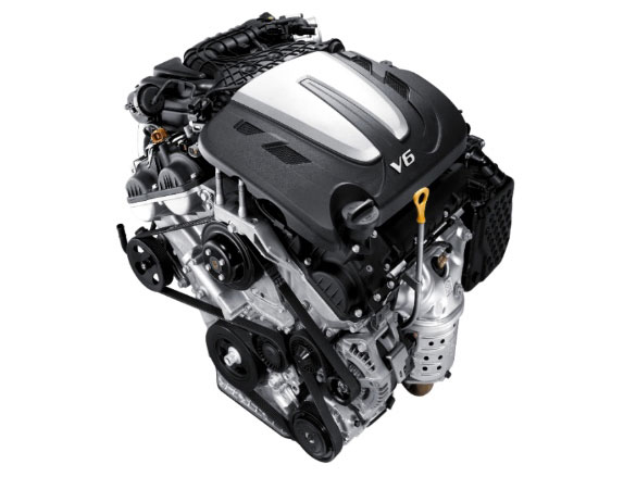 3.5 MPi petrol V6 2WD engine.