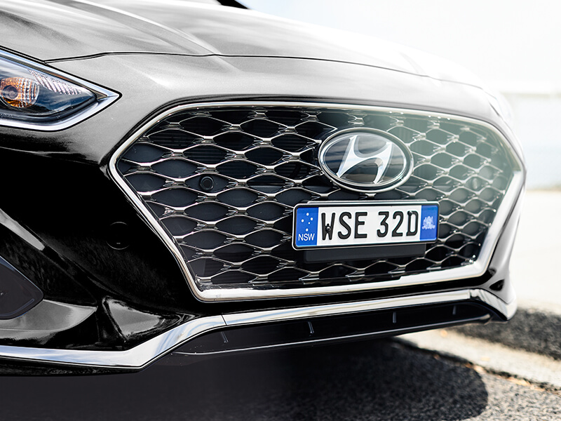 Hyundai cascading front grille.