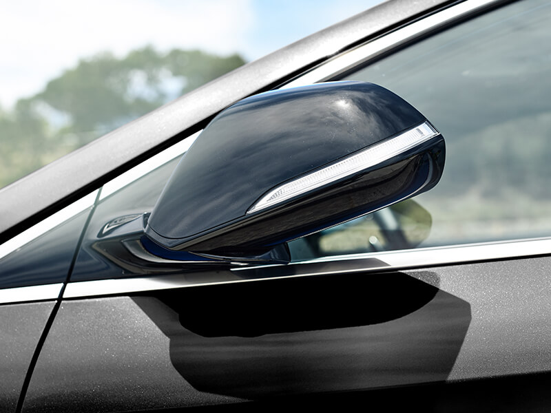 Side mirrors with LED repeaters.