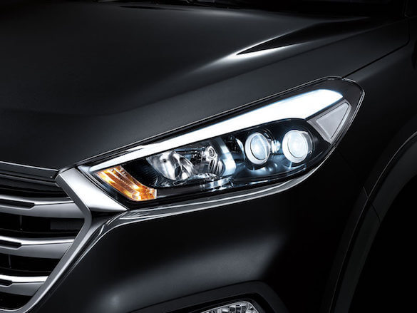 LED headlamps with auto levelling.