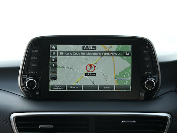 Touchscreen with satellite navigation.