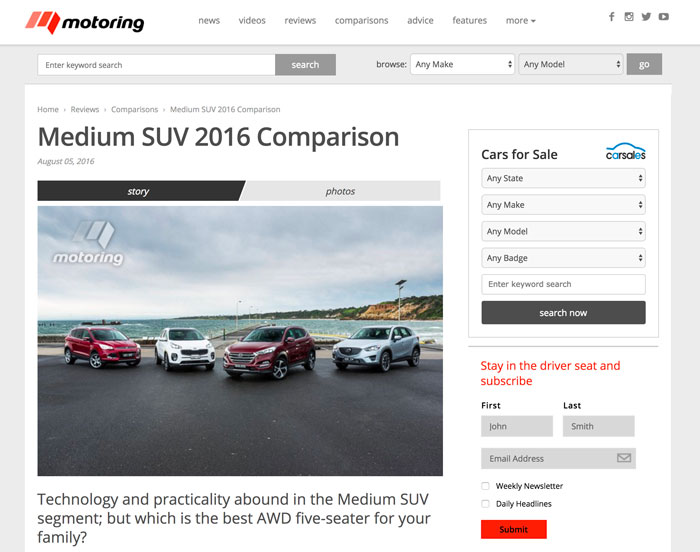 Matt Brogan, Motoring.com.au