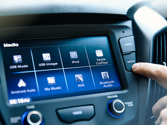 "7"" multimedia touchscreen."