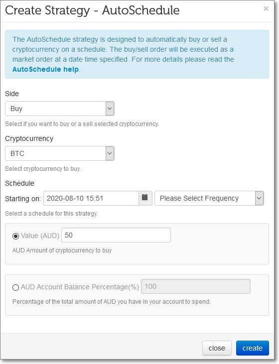 AutoSchedule - DCA Dollar Cost Averaging