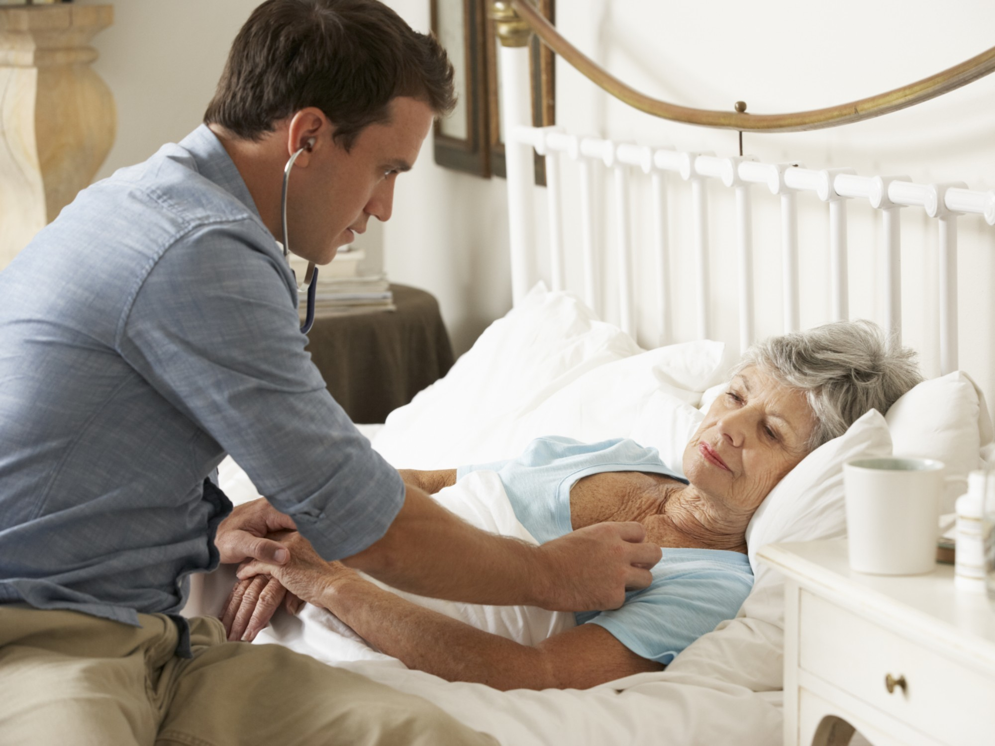 Woman receiving palliative care