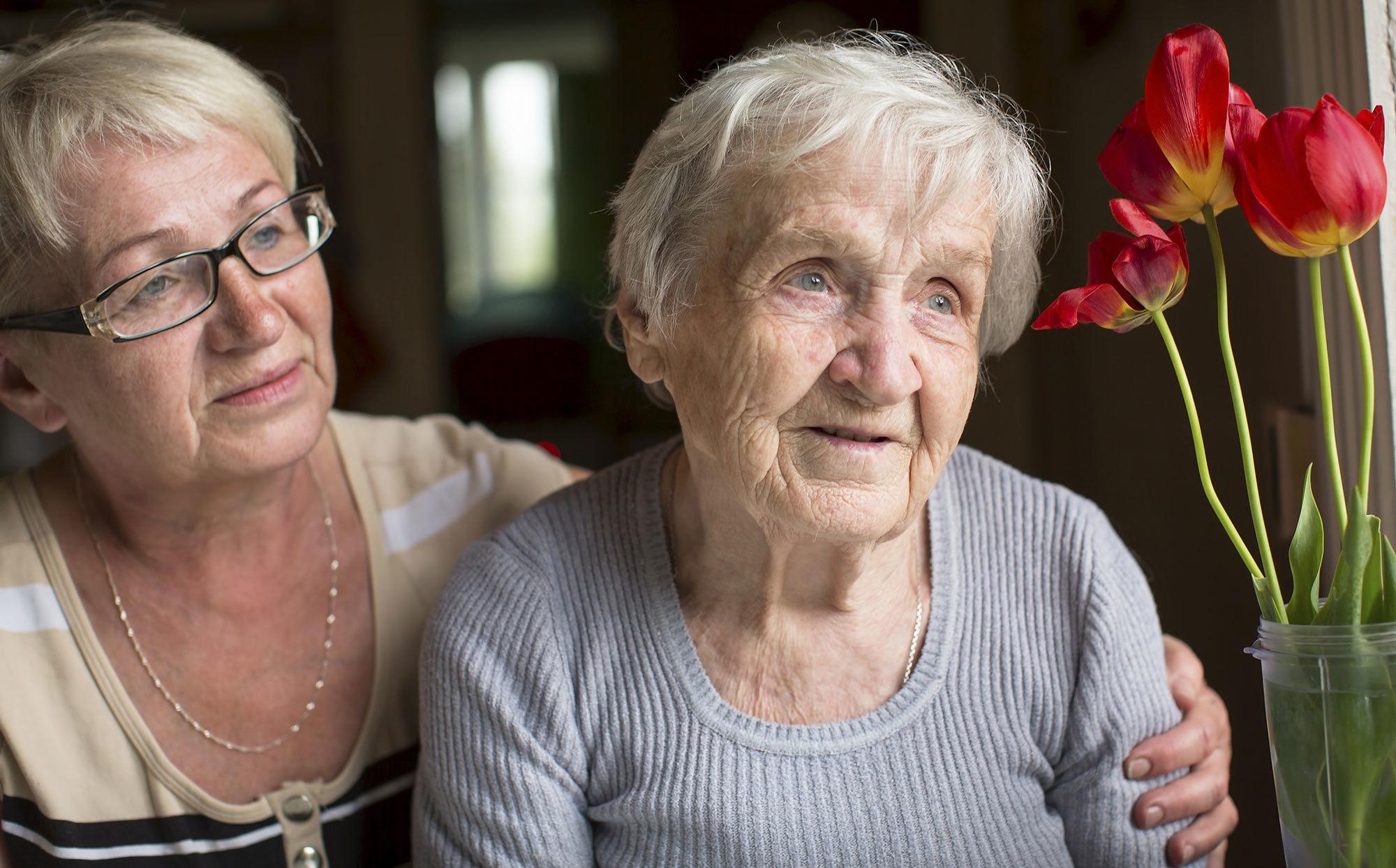 Older women with her carer (Source: Shutterstock)