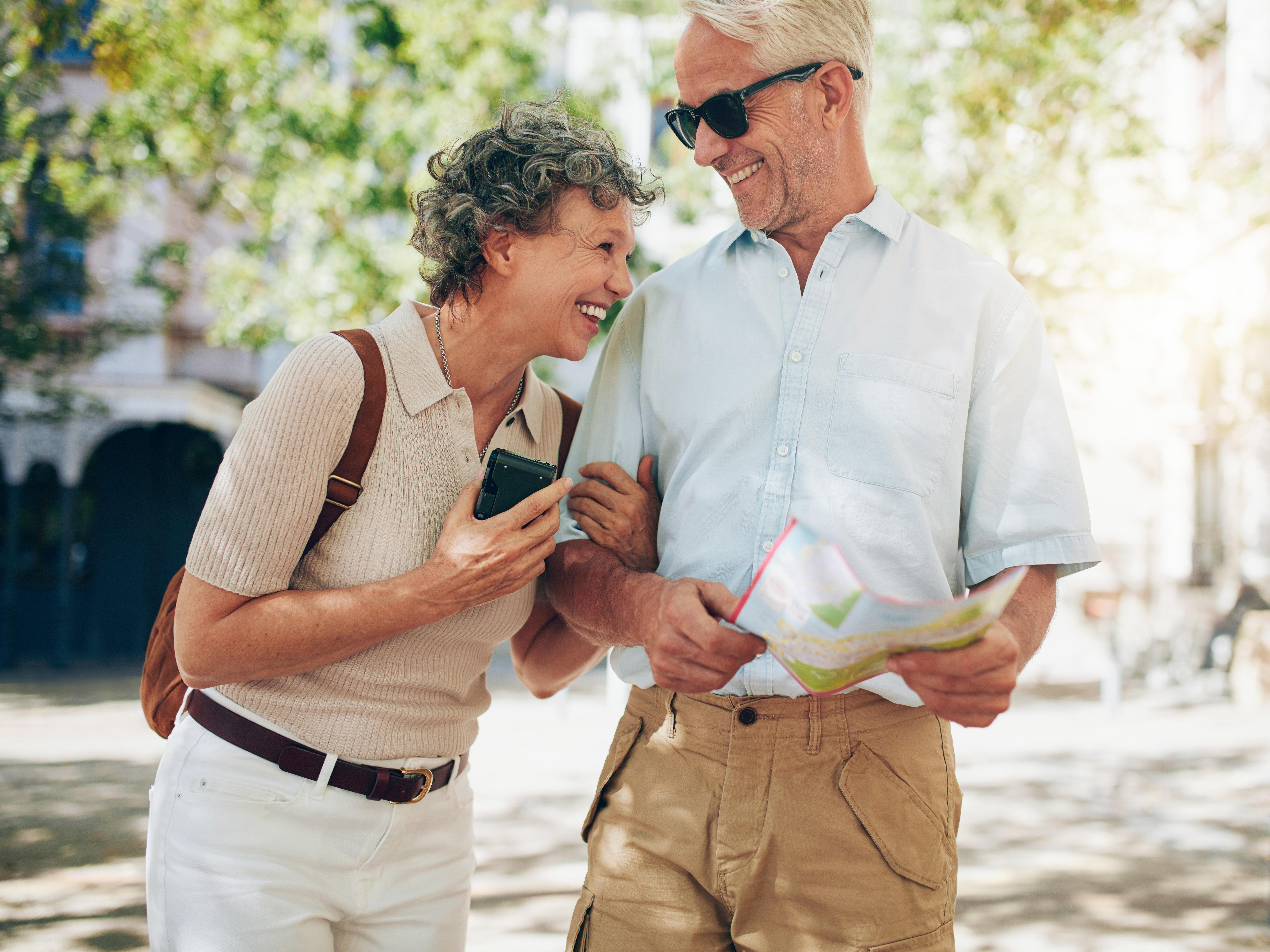 Older couple travelling together