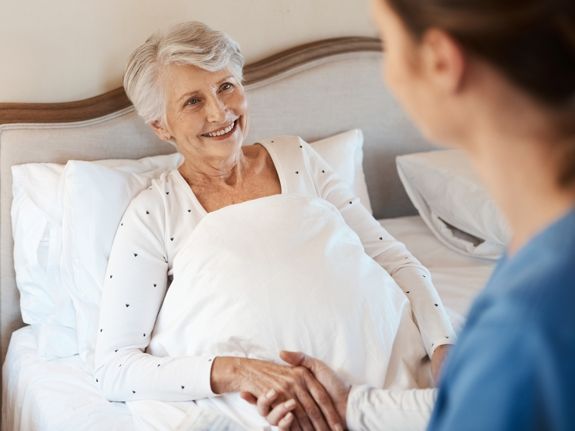 Older woman with her respite carer