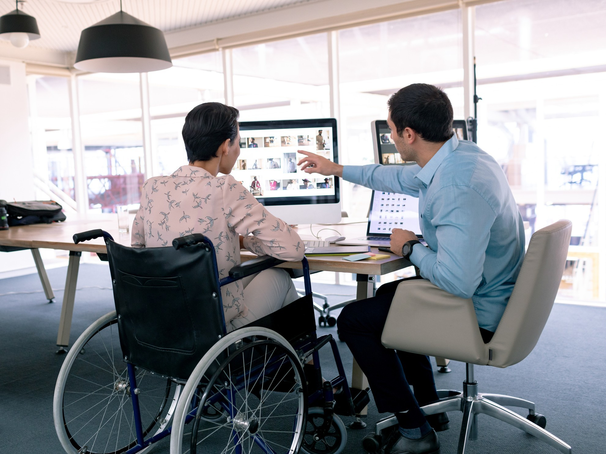 Person with disability learning on the job.
