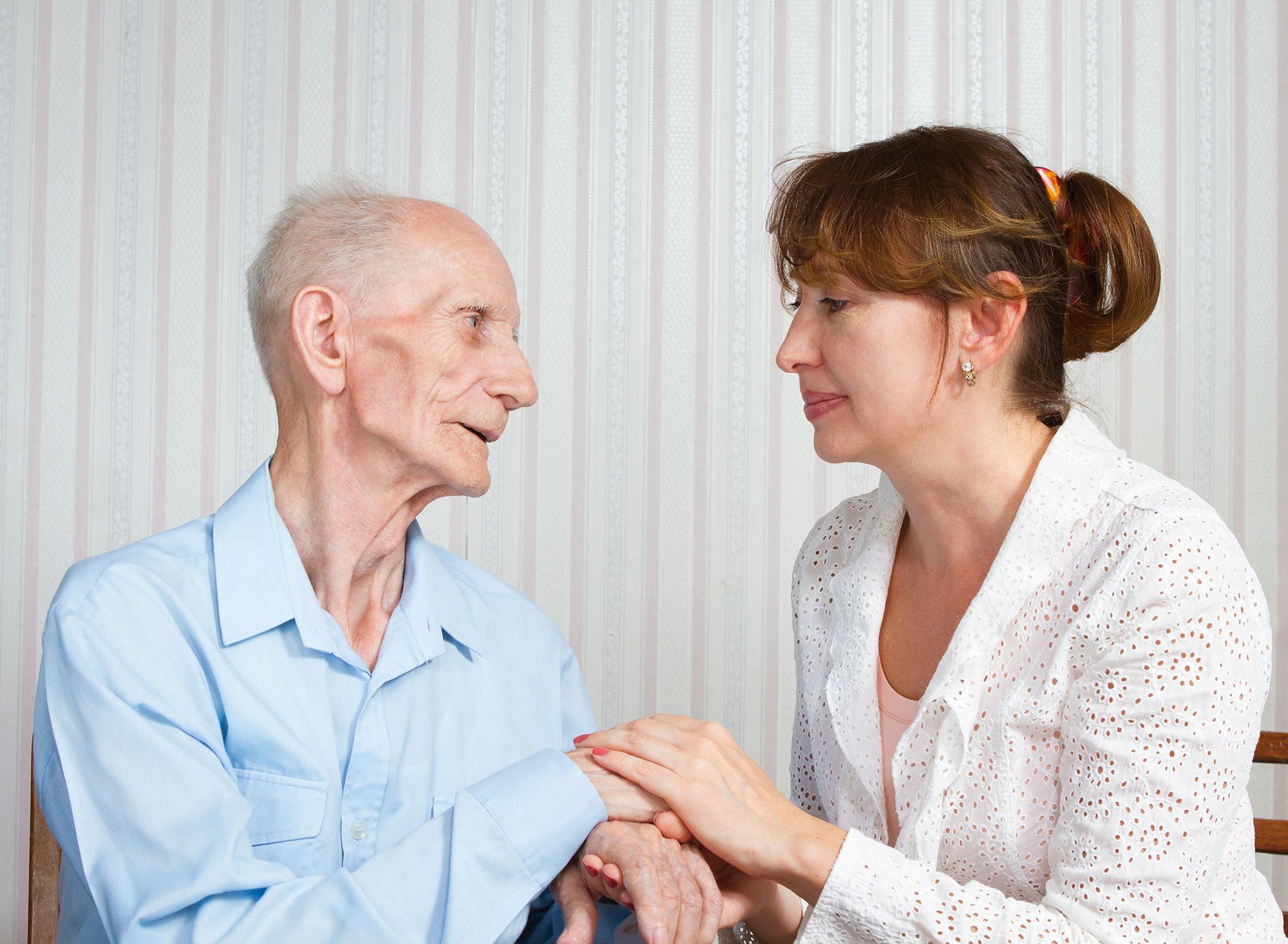 Older person with their social support worker