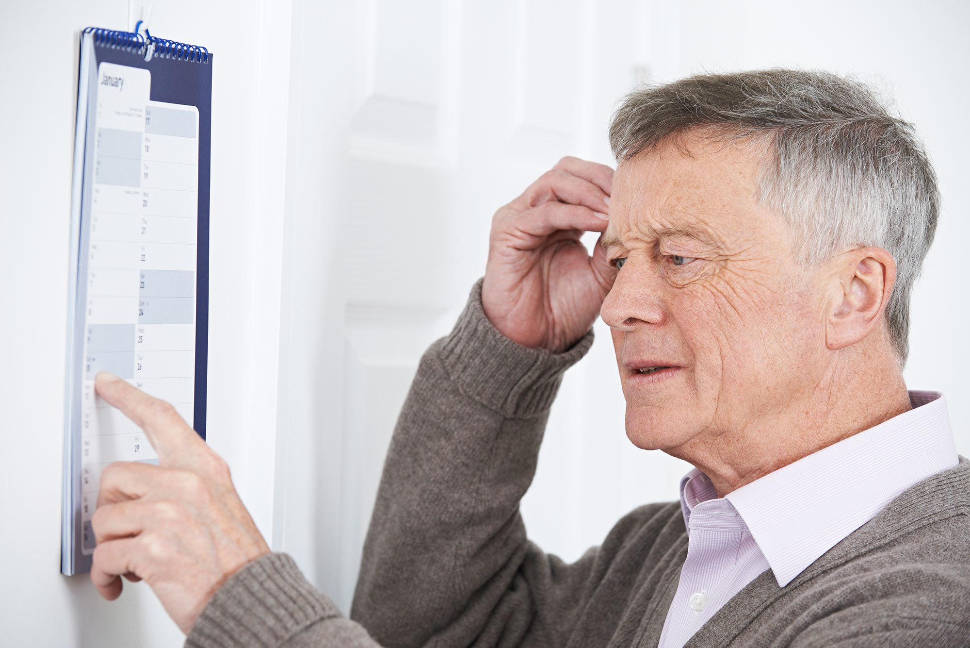 Older man looking confused.