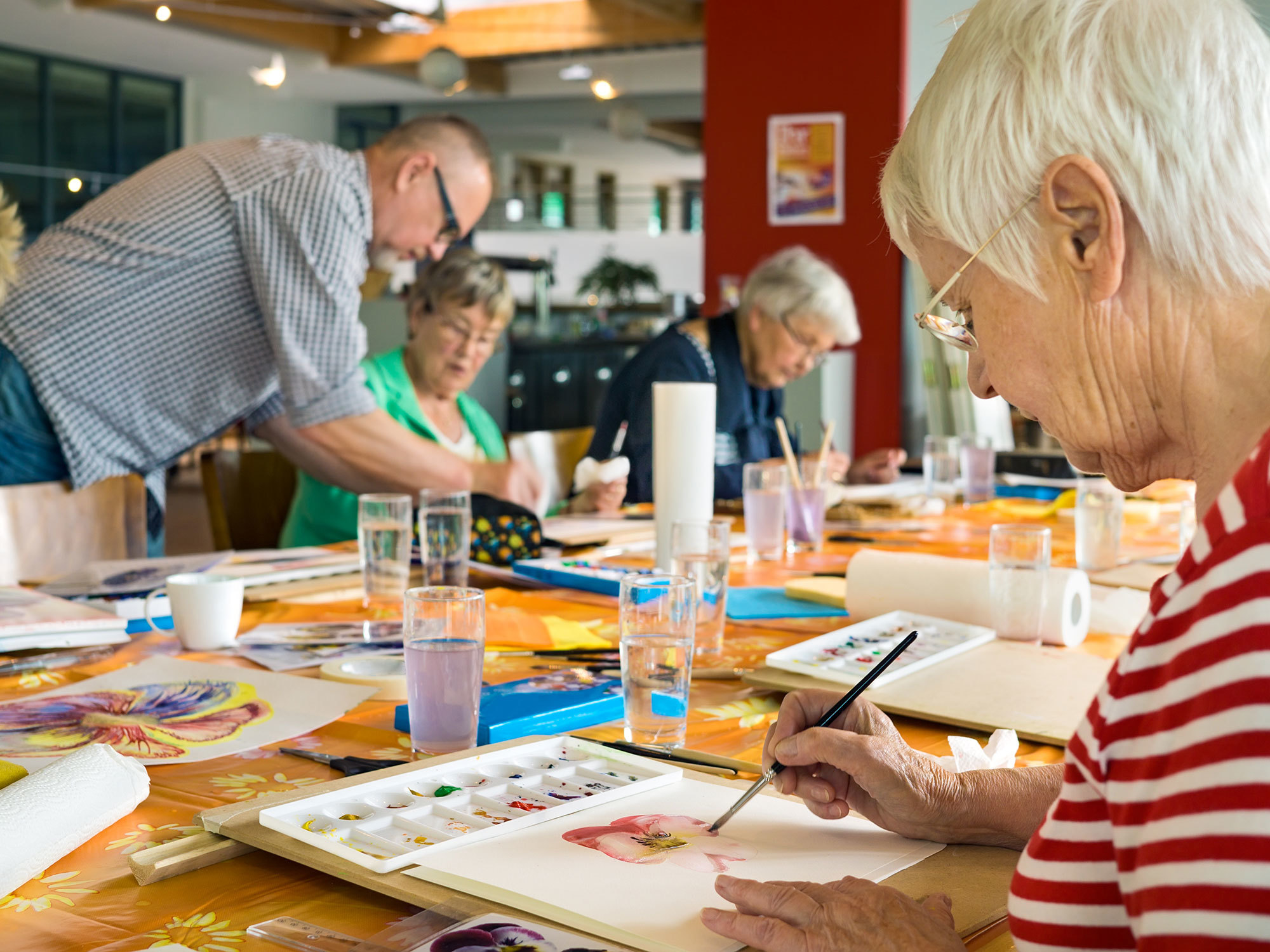 Older people undertaking Centre Based Care activities.