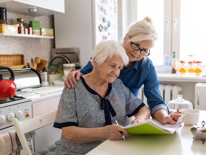 Older woman with a RAS assessor