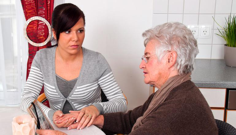 Bereavement counselling helps family and friends cope during and after the illness.