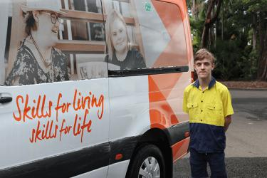 Young student with disability begins life changing work