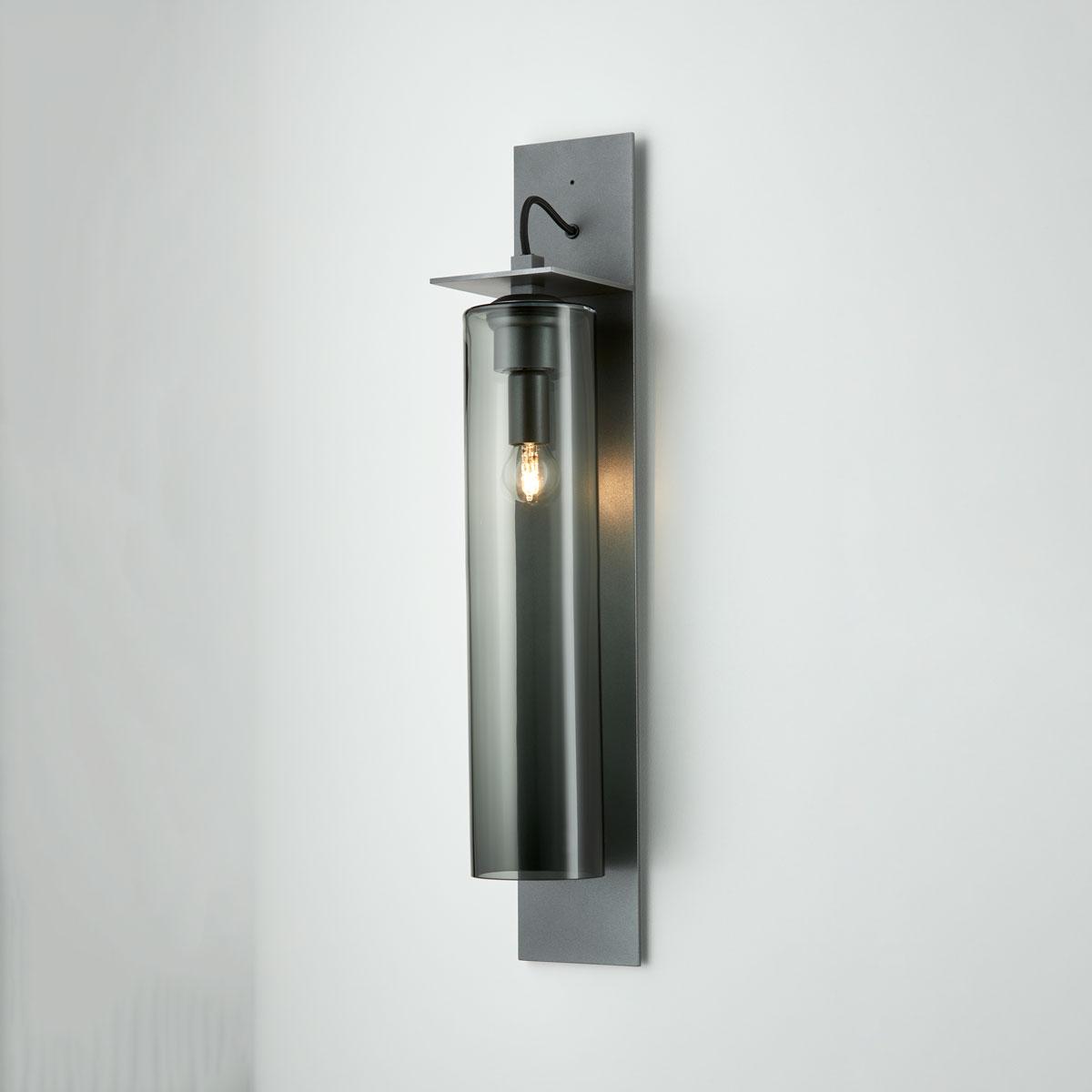 Articolo lighting eclipse wall sconce tall grey articolo black black flex on