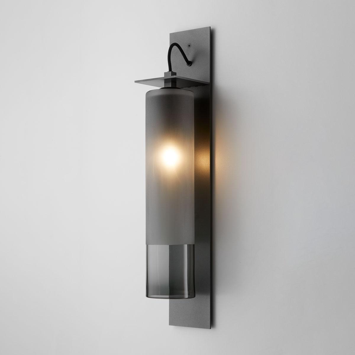 Articolo lighting eclipse wall sconce tall grey frost articolo black black flex on