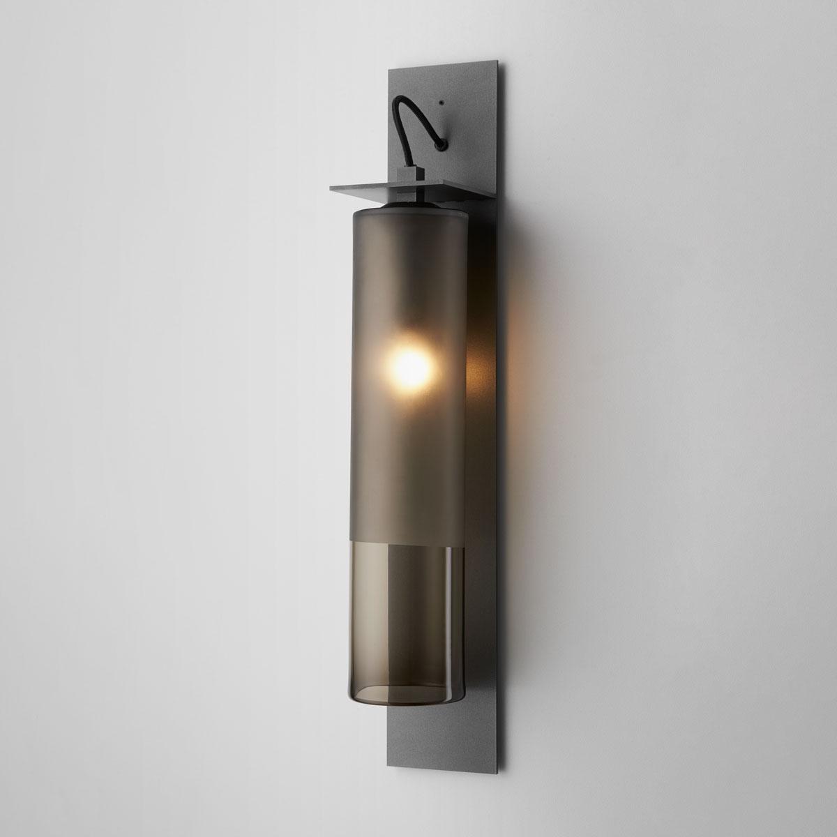 Articolo lighting eclipse wall sconce tall smoke frost articolo black black flex on
