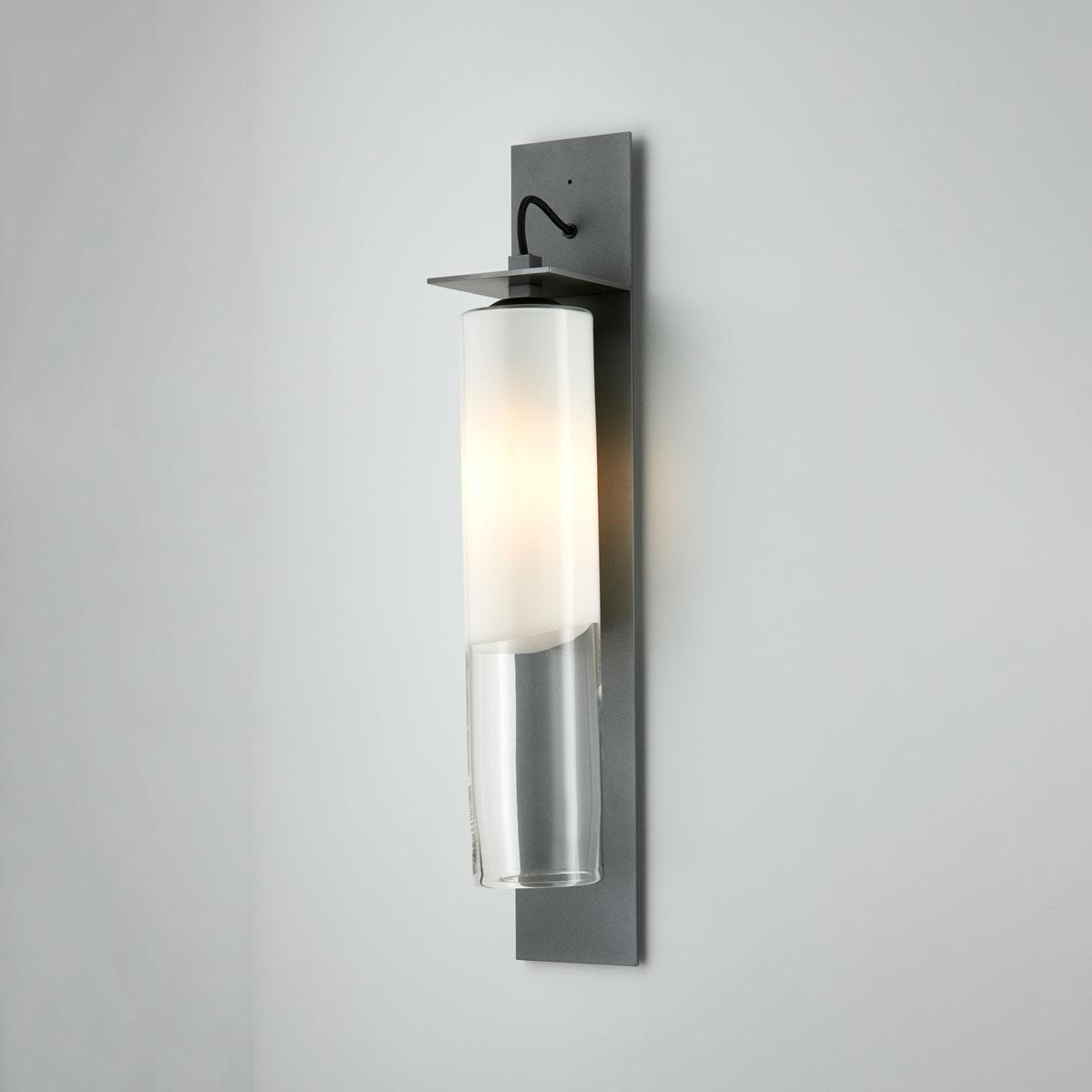 Articolo lighting eclipse wall sconce tall white clear articolo black black flex on