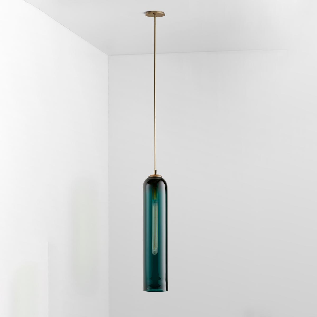 Articolo lighting float pendant drunken emerald brass on 2