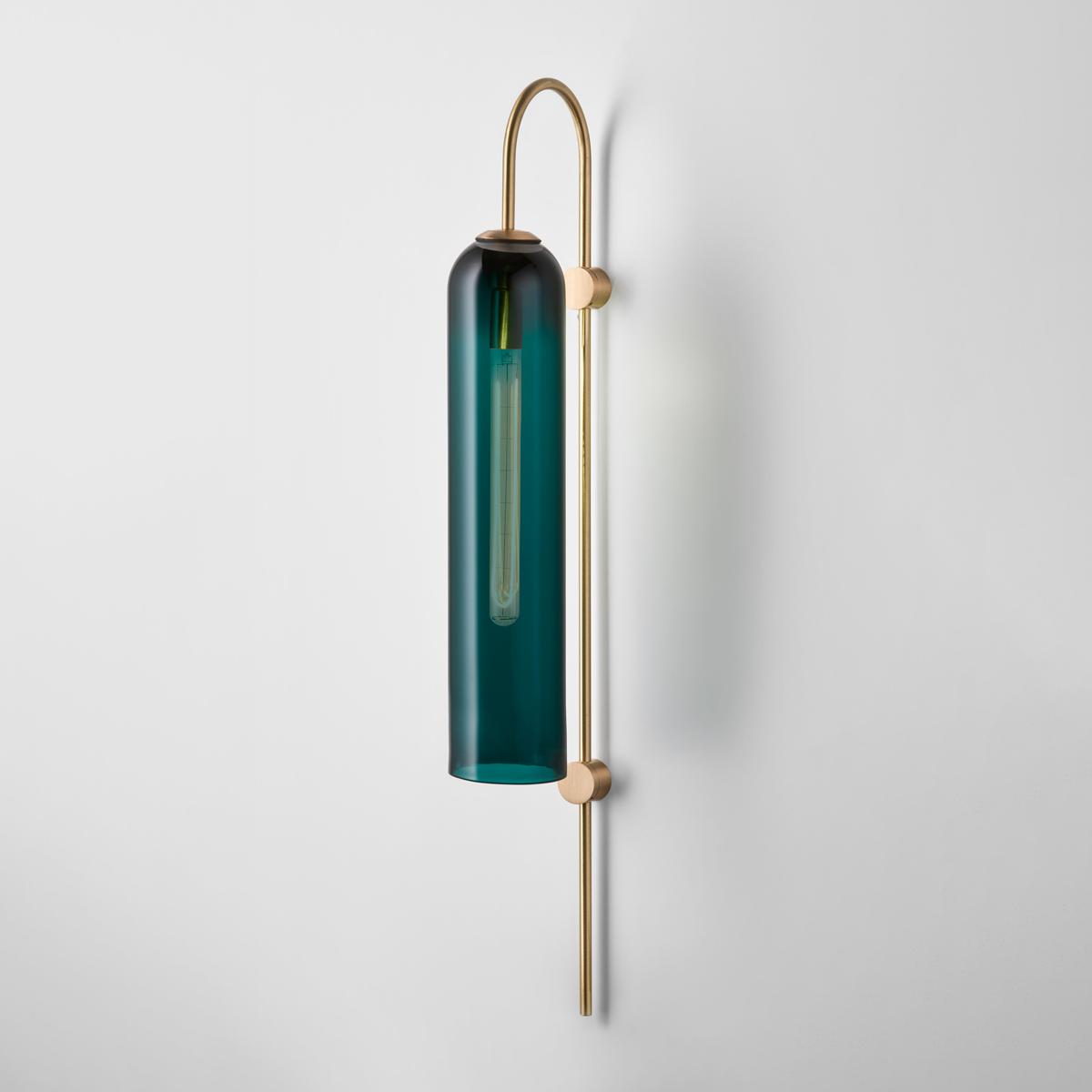 Articolo lighting float wall sconce drunken emerald brass on