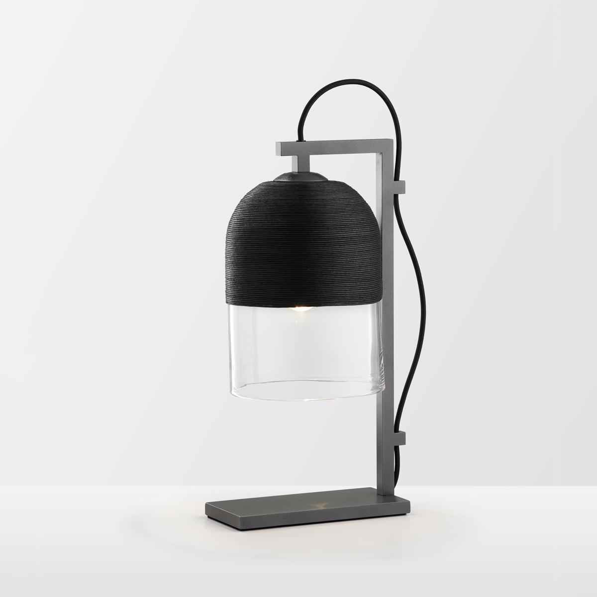 Articolo lighting indi table lamp black clear articolo black black flex on