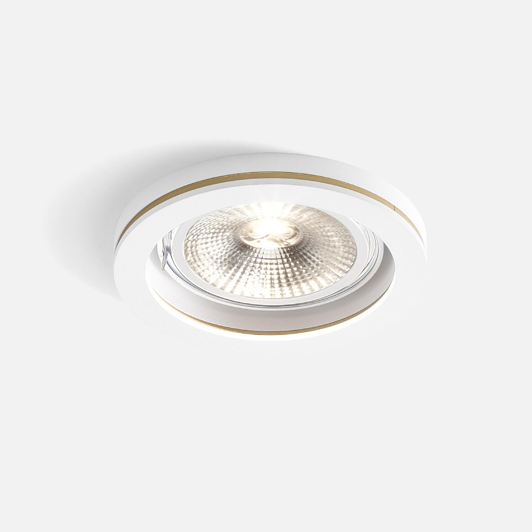 Cocoz round 1.0 led111 white texture gold 2700k