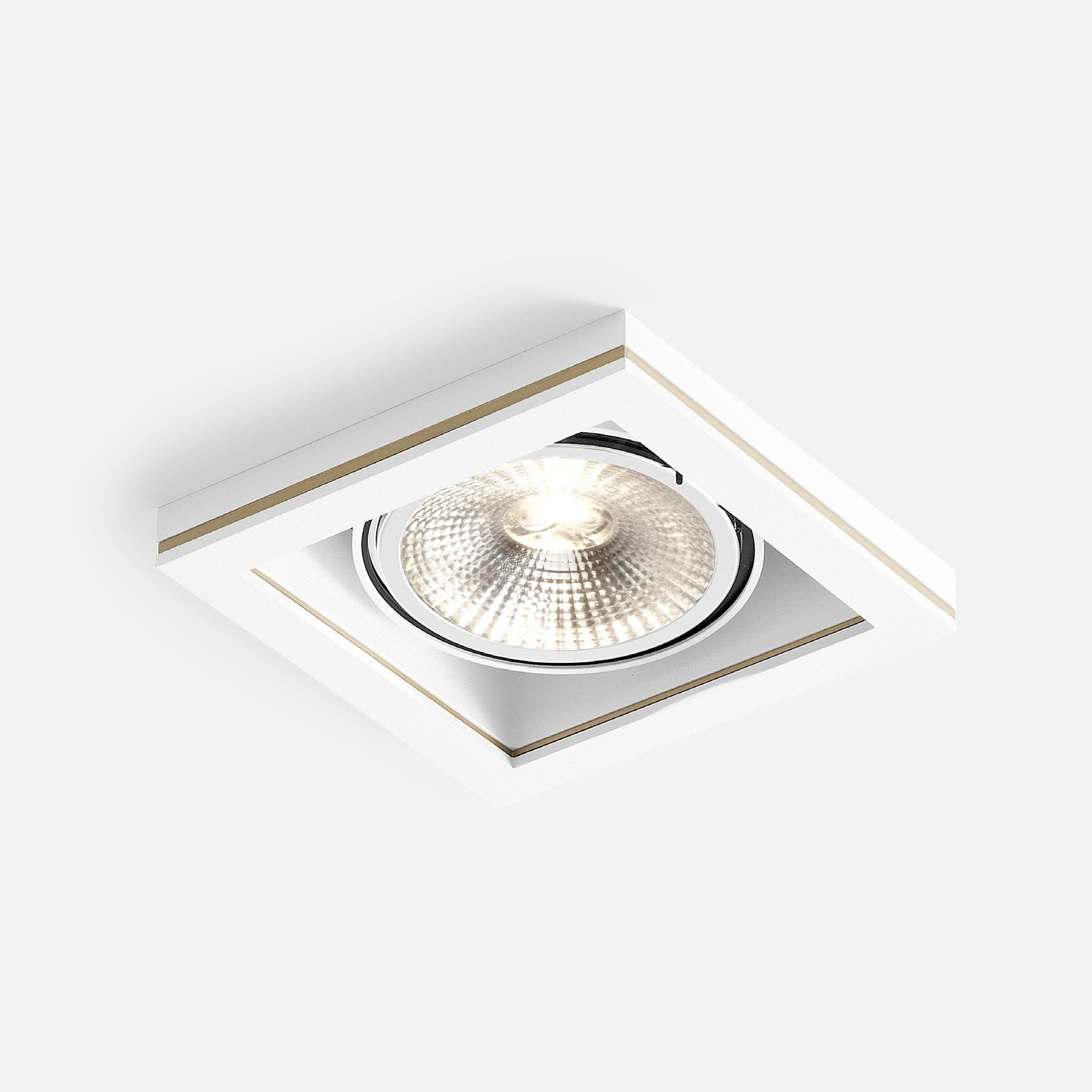 Cocoz square 1.0 led111 white texture gold 2700k