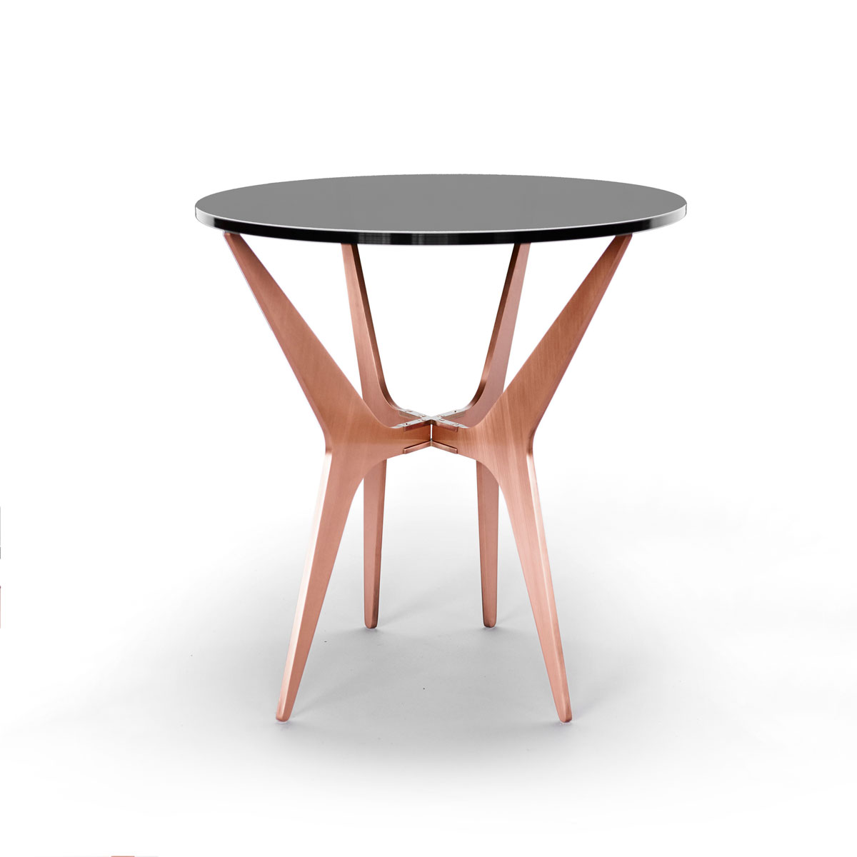 Dean oval side table   copper  smoked 2