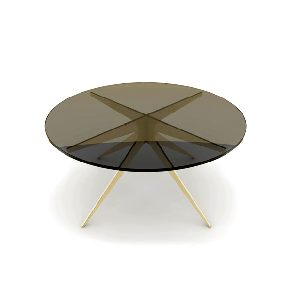Dean round coffee table   brass  bronzed thumb